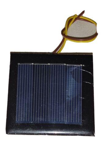 Neu Solarpanel Solarzelle 2V 100mA Solarmodul für Leuchten 1 Akku 54x54x3mm 1,2V