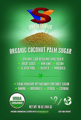 Organic Coconut Palm Sugar 1Lb