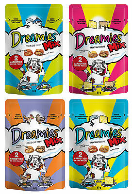 Dreamies Cat Treats 60g Mixed Flavours 4 Pack Deal - 1 Of Each