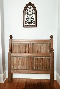 Hand Carved Antique Twin Bed