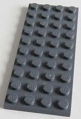 LEGO PLATTE PLATE 4 X 10 2 ST CK DUNKEL BLAUGRAU 3030