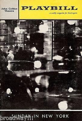 "Robert Redford ""SUNDAY IN NEW YORK"" Pat Stanley / Conrad Janis 1962 Playbill"