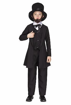 Abraham Lincoln Kids Costume (Abe Abraham Lincoln President Historical Child)