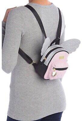 NWT Luv Betsey Johnson Jesse Mini Backpack Pink Glitter Hideable Wings MSRP $72