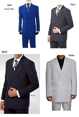 mens' double breasted suit ( come with pants) by Milano Moda Stye #901P Double Breasted Mens Suits