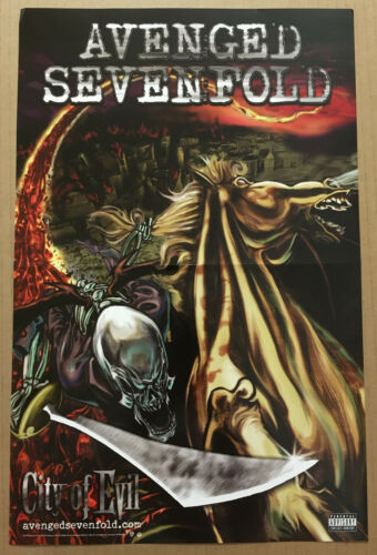 AVENGED SEVENFOLD Rare 2005 PROMO POSTER for Evil CD 11x17 NEVER DISPLAYED USA