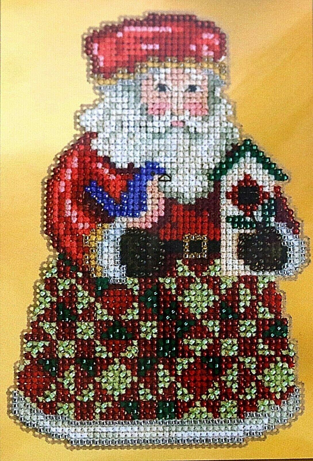 Mill Hill Jim Shore Beaded Cross Stitch Kit Santa Cozy Chris