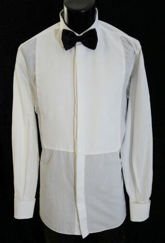 Zegna Tuxedo Shirt 16.5-35 W/Tie & Cufflinks Made in Italy