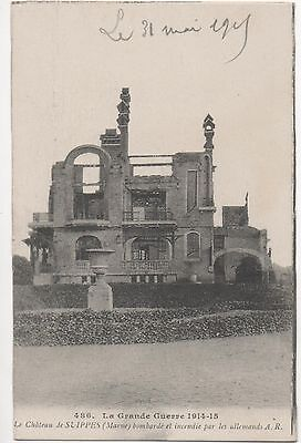 POSTCARD  MILITARY WWI  SUIPPES  After the bombing