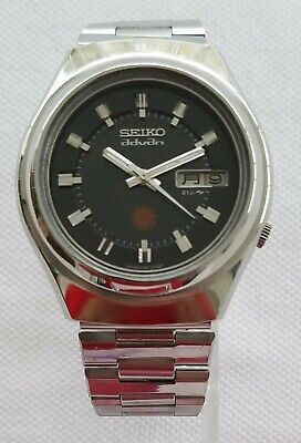 Vintage Seiko Advan 7039-7020 Automatic Black Dial 21 Jewel Kanji October 1974