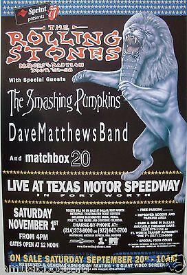 ROLLING STONES, SMASHING PUMPKINS, DAVE MATTHEWS 1997 FT. WORTH CONCERT POSTER