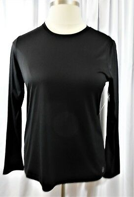 Be Inspired Athletic Long Sleeve Tee Top T Shirt X Large Black Sz 16 18 Xl Wicks