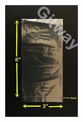 "1000 - 3"" x 6"" Polyethylene Clear Flat Food Grade 3x6 Plastic Bag Bags Baggies"