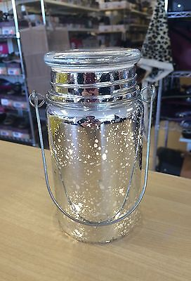 Valerie Parr Hill Lighted Mercury Glass Mason Jar   New  Assorted Colors