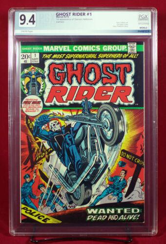 GHOST RIDER #1 (Marvel 1973) PGX 9.4 NM Near Mint - 1st DAIMON HELLSTROM!! +CGC!