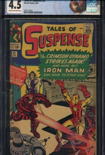 TALES OF SUSPENSE #52 CGC 4.5 1st Appearance BLACK WIDOW (Natasha Romanoff) 1964