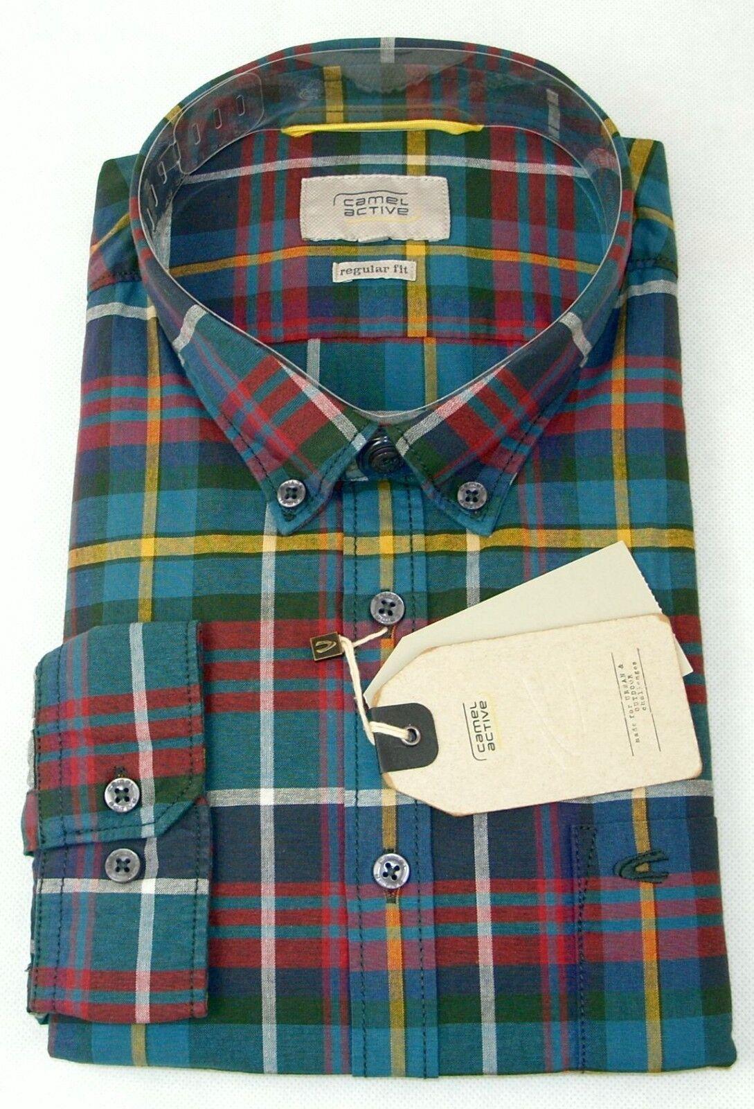 sleek new arrivals 100% high quality Мужская повседневная рубашка CAMEL Active Hemd langarm Übergröße 2XL 3XL  4XL 5XL Kariert NEU Jetzt -40%