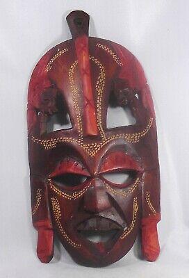 Vintage Authentic Kenyan Tribal Hand Carved Wedding Mask