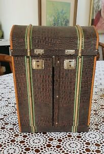 SOLD! Antique Doll's Steamer Trunk, circa 1920, with inclusions