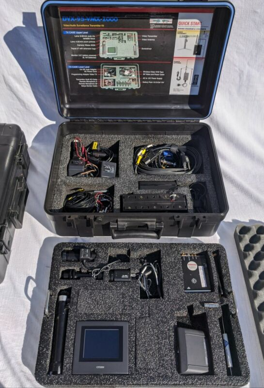 DVX-95-VMX-2000/MPX-800/Complete Covert Audio Video Surveillance System/Military