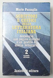 PRL-SCRITTORI-CRITICI-LETTERATURA-ITALIANA-VOL-2-PAZZAGLIA-ZANICHELLI-SCUOLE