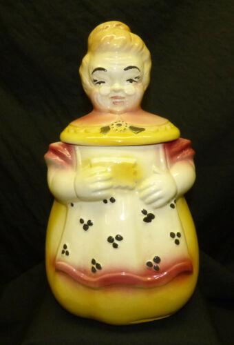 Vintage Old American Bisque Grandma Granny Figural Cookie Jar