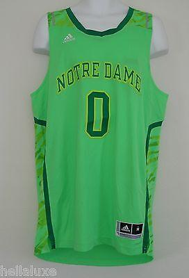 NWT~Adidas NOTRE DAME FIGHTING IRISH PREMIER Basketball Jersey shirt Top~Mens XL