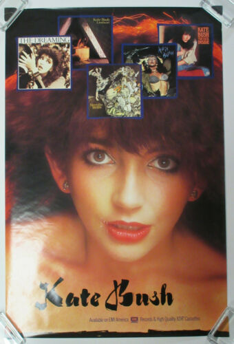 KATE BUSH Never For Ever 1980 US EMI Records Promo Only POSTER VG+