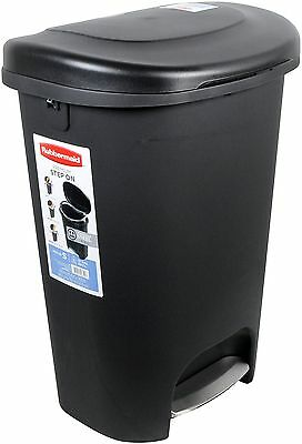 Rubbermaid 13 Gallon Step On Trash Can. Garbage Waste Bas...