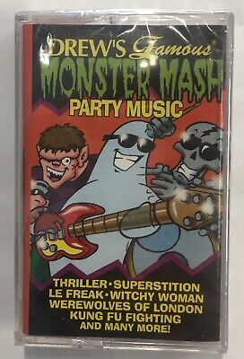 DREW'S FAMOUS MONSTER MASH PARTY MUSIC SEALED Cassette Tape 1997 Halloween ()