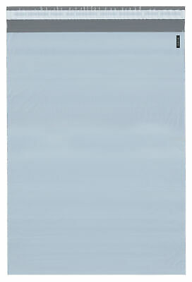 Plymor Poly Mailer Whitegray Bag W Closure Strip 14.5 X 19 Pack Of 125