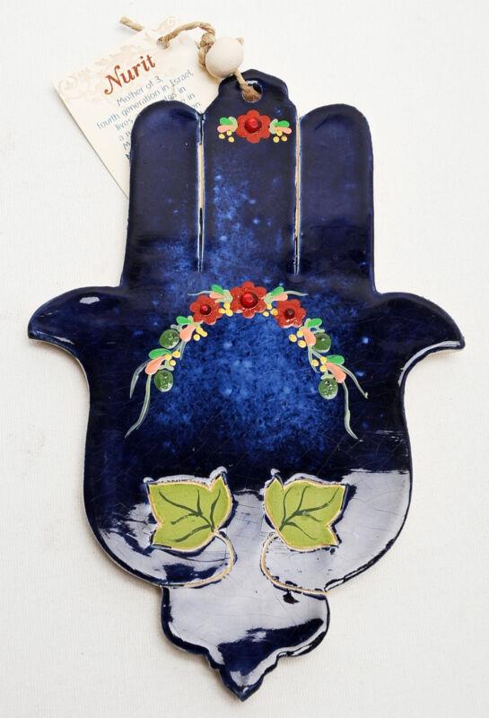 Hamsa+Hand+Wall+Hanging+Evil+Eye+Kabbalah+Luck+New+Ceramics+from+holy+land+%2309