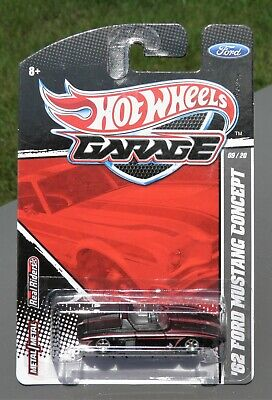 2011Hot Wheels Garage Ford 9/20 '62 Ford Mustang Concept in Matte Black