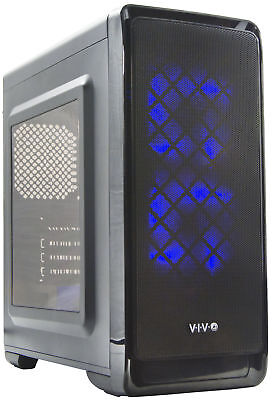 "VIVO ""SMART"" Micro-ATX Tower Computer Gaming PC Case Black 5 Fan Mounts, USB 3.0"
