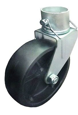 "New 6"" Trailer Swirl Jack Caster Wheel With Lock Pin - 26024"