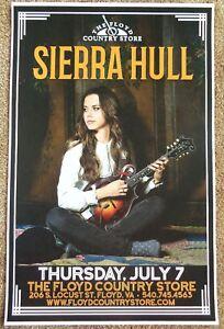 SIERRA HULL 2016 Gig POSTER Floyd Virginia Concert Bluegrass
