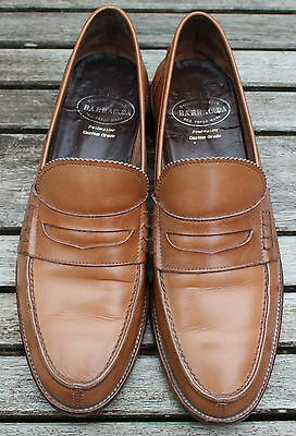 BARRACUDA Custom Grade Rare Vintage Tan Leather Loafers Moccasins Shoes EUR 43
