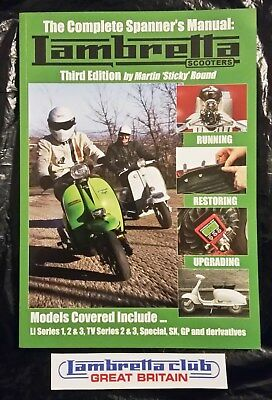 The Complete Spanner's Manual Lambretta Scooters - V3 - Sticky's Manual - LCGB