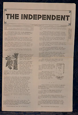 Rare VINTAGE Newspaper !!THE INDEPENDENT !! SEP-OCT 1972 (Issue: 195) NEW YORK