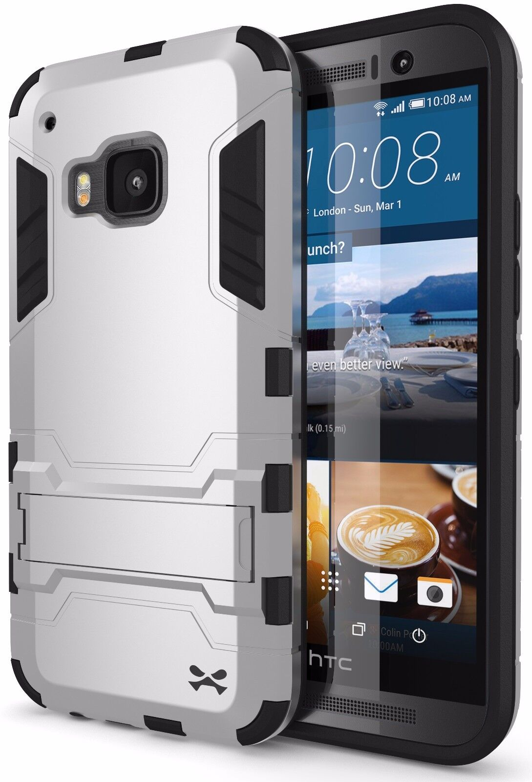 HTC One M9 Case | Ghostek ARMADILLO Shockproof + Screen Protector & Kickstand