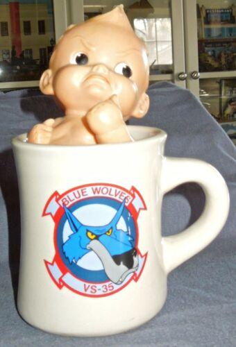 US Navy Sea Control Squadron 35, VS-35 Blue Wolves DCAG Thick Ceramic Coffee Mug
