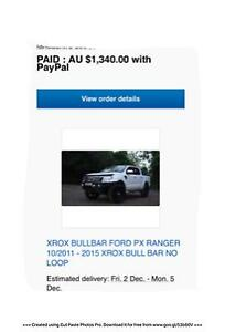2011 to 2015 FORD RANGER XROX BULLBAR NO LOOP  brand new in box Berkeley Wollongong Area Preview
