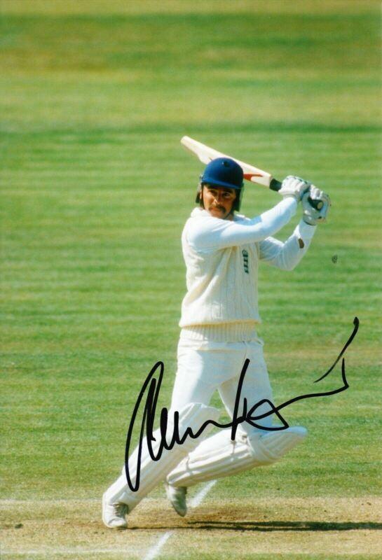 Allan Lamb Signed 12X8 Photo England Cricket Legend AFTAL COA (2623)
