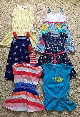 Toddler Girls Lot of 6 Sleeveless & Short Sleeve Dresses Size 4T