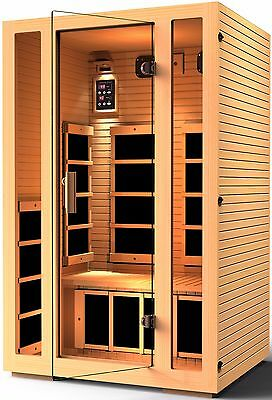 JNH Lifestyles 2 Person Far Infrared Sauna 7 Carbon Heater, Recovered (Jnh Lifestyles 2 Person Far Infrared Sauna)