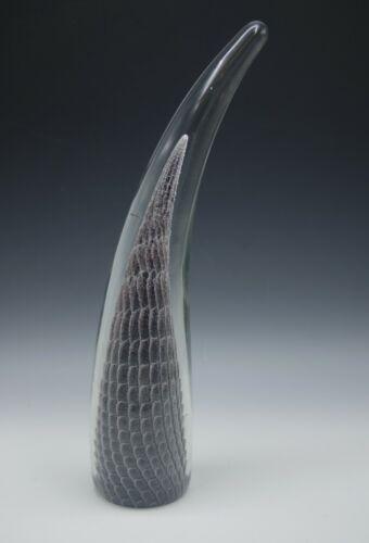 """FM KONSTGLAS MARCOLIN SWEDEN SFUMATO HUGE MODERN GLASS SCULPTURE 15.5"""" SIGNED"""