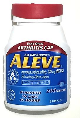 Aleve 200 Tablets 220Mg Naproxen Sodium  Nsaid  Expires 12 2018 Or Later