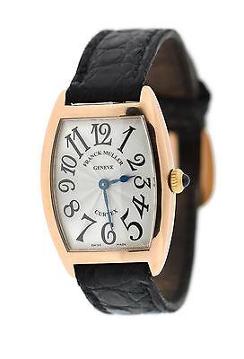 Franck Muller Curvex 18K Rose Gold Watch 1752 QZ