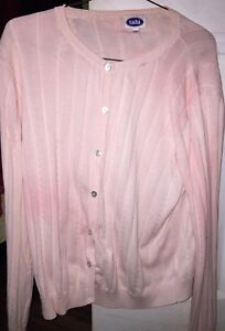 Pink button-up long cardigan