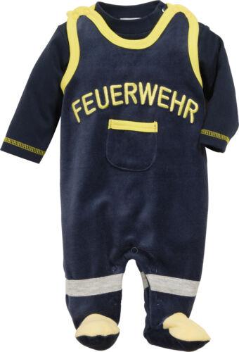 Playshoes Strampler-Set Nicki Feuerwehr Langarm Schlafanzug Baumwollmischung